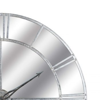 Large Silver Foil Mirrored Wall Clock