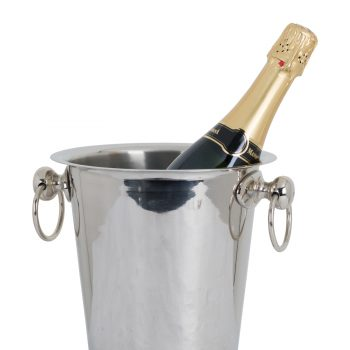 Champagne Bucket On Stand Finished Nickel