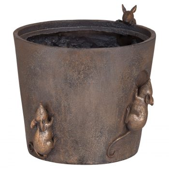 Flower Pot With Mice Detail