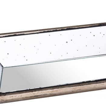 Astor Distressed Mirrored Display Tray With Wooden Detailing
