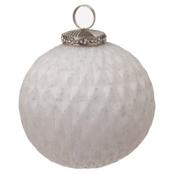 The Noel Collection White Large Honeycomb Bauble